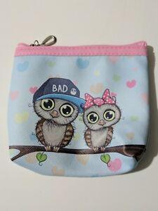Womens Ladies teen girl Owls coin purse zipper pouch accessories