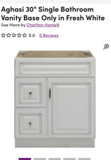 Aghasi 30� Bathroom Vanity Base Only New - Fresh White - Local Pickup Only