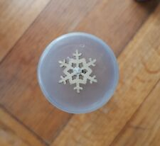 Wood Snowflake Blanks 6 x 20mm - Natural Wooden Christmas Ornament