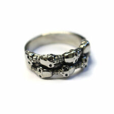 Stainless Steel Band Punk Costume Rings