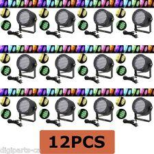 12PCS 12 Pack 86 PAR RGB LED Stage Light Party Show DMX Lighting Disco