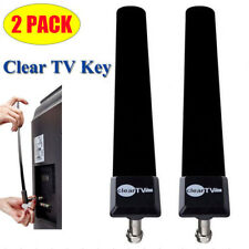 2x Clear TV Key HDTV Free TV Stick Satellite Indoor Digital Antenna Ditch Cable