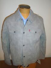 Levi's Suede Touch Truckers Jacket NWT Large $180 Light Gray