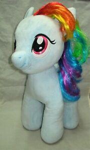 "My LIttle Pony MLP G4 RAINBOW DASH Plush Stuffie 2014 20"" BAB Build a Bear"