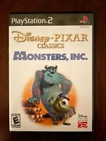 Disney Pixar Monsters Inc. Sony Playstation 2 PS2 Fast Free Shipping Excellent