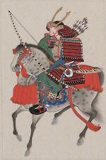 ":Japanese Warrior wall art canvas 16x12"""