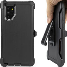 Cell Phone Case For Samsung Galaxy Note10 With Belt Clip Dust Proof Black Cover