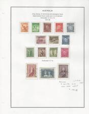 Australia Collezione 1937-46 su Album Pagina, #166-179 Usato Set di 15