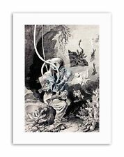BOOK DEEP SEA DIVER FISH DIVING SUIT RAY FISH Painting Retro Canvas art Prints