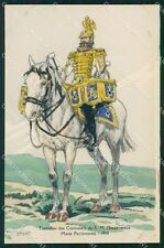 Military Russia Russian Soldier Horse Robiquet postcard XF3626