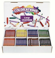 Crayola Large Crayon Classroom Pack, 8 Assorted Colors, Set of 400 - Colorations