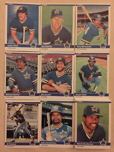 1984 Fleer Seattle Mariners Complete Team Set!