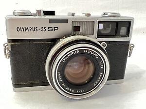 Olympus 35 SP Rangefinder Film Camera G.Zuiko 42mm F/1.7 lens, works Please Read