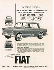 1963 Fiat 1100/D Pearl Of The Imports Vtg Print Ad