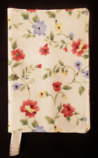 New Fabric Standard Paperback Book Cover - Floral Pink Green Blue on Cream