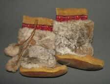 HANDMADE LEATHER FUR MOCCASINS BOOTS