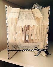 """Folded Book art Folding Pattern """"Family"""" 325 folds, #004"""