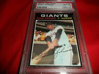1971 O-Pee-Chee OPC Topps #128 Frank Johnson San Francisco Giants NM MINT PSA 8