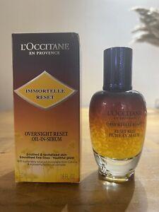 NEW L'OCCITANE IMMORTELLE Overnight Reset OIL-IN Serum 50ML Bottle RRP £70