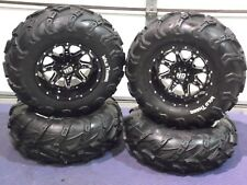 "CAN AM DEFENDER HD8 25"" WILD THANG ATV TIRE & STI HD4 WHEEL KIT CAN1CA"