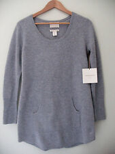 NWT Cynthia Rowley New York 100% Cashmere Luxurious Lounge Gray Sweater M $260