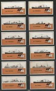 Elder Dempster Shipping Lines Full Set of 12 cards