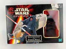 Hasbro Star Wars Episode 1 Sith Speeder and Darth Maul 1999