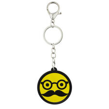 Disguise Emoji Bag Charm Keychain Lux Accessories Yellow Glasses and Mustache