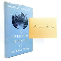 SIGNED A River Runs Through It - FIRST EDITION - Norman MACLEAN 1973 Brad Pitt