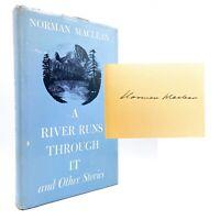SIGNED A River Runs Through It - FIRST EDITION - Norman MACLEAN 1973 Brad Pitt