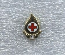 RED CROSS BLOOD DONOR 11 GALLON  PIN