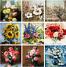 DIY Colorful Flowers Painting By Number Kit DIY Acrylic Oil Paint Wall Art Decor