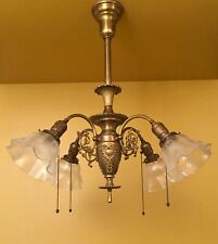 Vintage Lighting 1902 Early Electric pendant. Rare. Stunning. Rewired
