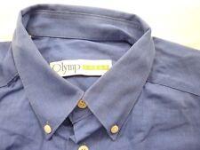 E7945 Olymp Luxor 0256 64 19 Businesshemd Kombimanschette 41 dunkelblau meliert