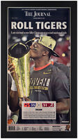 """Clemson Tigers 2016 National Champions """"The Journal"""" Newspaper Framed In Black!"""