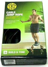 Gold's Gym Cable Jump Rope Build & Tone Black Adjustable 9 ft.