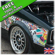 1000mm x 1000mm StickerBomb Car Sticker Wrap - Roof, Wing, Center-console!