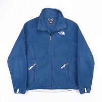 Vintage THE NORTH FACE Blue Zip Up Outdoor Fleece Jacket Womens Size Medium