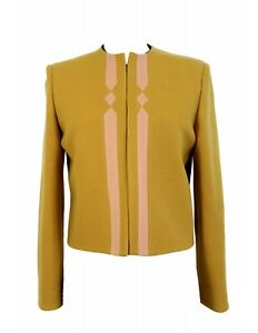 Versace Couture Jacket Vintage Yellow Mustard Ages 80