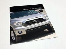 2007 Toyota RAV4 FJ Cruiser Highlander 4Runner Sequoia Tacoma Tundra Brochure