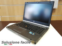 """PC NOTEBOOK PORTATILE HP ELITEBOOK 8460W 14"""" CPU I7 2670QM 4GB RAM SSD 128GB TOP"""