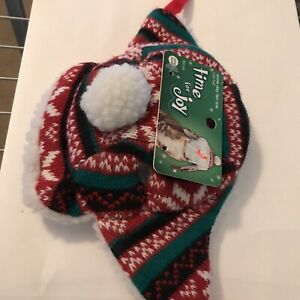 Time for Joy Christmas Snow Day Fair Isle Cat Hat One Size