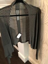 RICK OWENS Knit Cardigan open front Gray Sweater Small