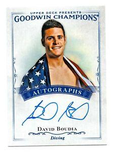 2016 Goodwin Champions Autograph David Boudia Platform Diving Olympic Champion