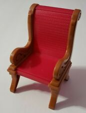 FISHER-PRICE LOVING FAMILY DOLLHOUSE DINING ROOM BROWN & RED SINGLE CHAIR ONLY