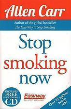 Stop Smoking Now by Allen Carr (Paperback / softback, 2015) WITH CD