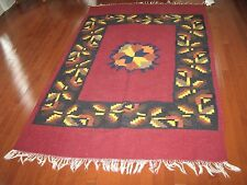 Area Rug ,  Mexican Design  , Wool ,  4' x 6' , Pre Owned