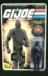 GI JOE COBRA 1985 SNAKE EYES CUSTOM SUNBOW CARTOON ACTION FIGURE ON CARD
