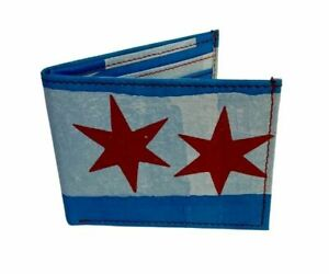 Chicago Flag wallet - made with upcyled plastic bags