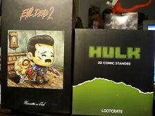 Lot Of Figure Lootcrate Evil Dead Ash Horror Marvel Avengers Hulk Comic Standee
